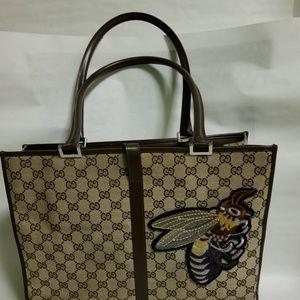 "Vintage GUCCI ""GG"" MONOGRAM Canvas Bag"